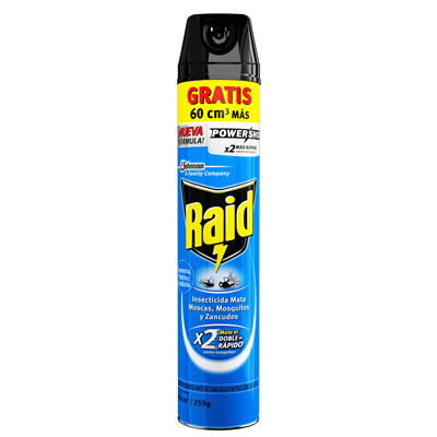 Raid® Insecticida Mata Moscas, Mosquitos y Zancudos