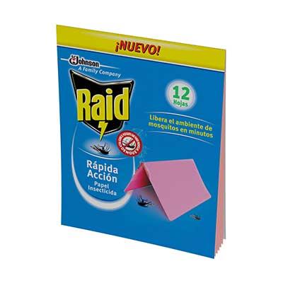 Raid® Papel Insecticida de Rápida Acción
